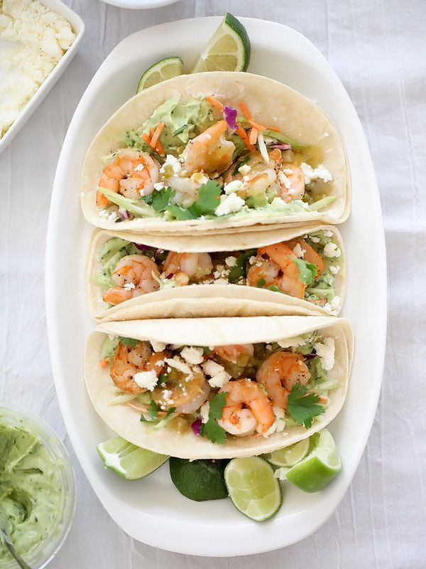 Shrimp Tacos with Garlic Avocado Crema + Giveaway - foodiecrush