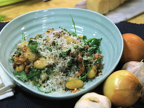 Stekt gnocchi med fläskfärs | Recept.nu