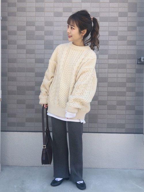 196df452708 安中亜美|ニット・セーターを使ったコーディネート【2019】 | My WEAR | ファッション、ニットセーター、セーター