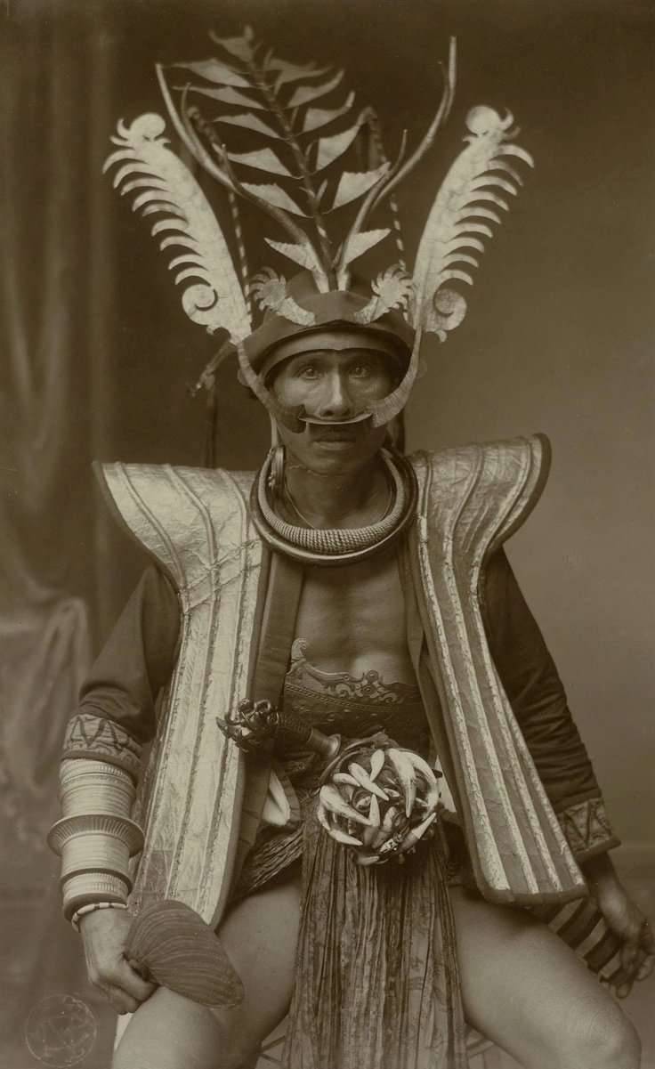 C. B. Nieuwenhuis (1863-1922)   Portrait of a Radja from South Nias dressed as a Warrior, 1918