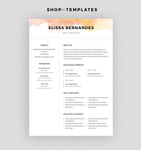 13 best Resume Layouts images on Pinterest Resume templates