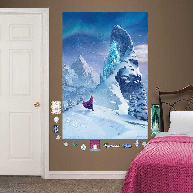 Disneyu0027s Frozen Snow Queen Elsau0027s Castle Mural Wall Decal By Fathead,  Multicolor Part 62