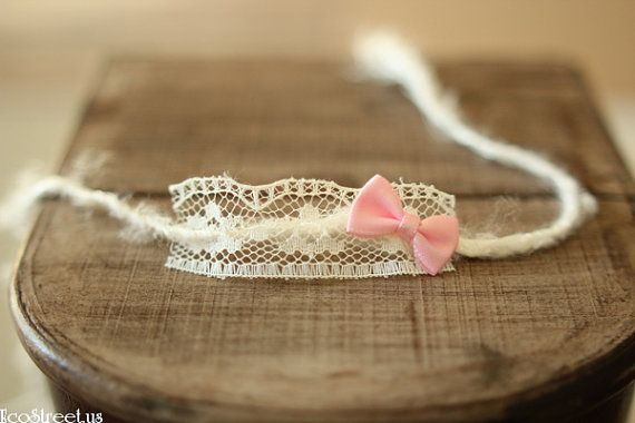 Baby Headband Baby Halo Newborn Headband in Off White by EcoStreet, $13.50