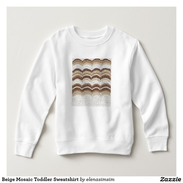 Beige Mosaic Toddler Sweatshirt