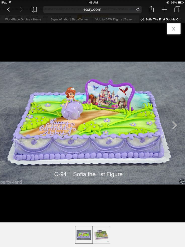 Sofia the first- sheet cake