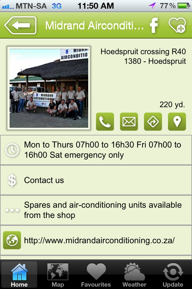 """Midrand Airconditioning is a hAPPy business - a """"construction & design"""" listing on the Hoedspruit Info App"""