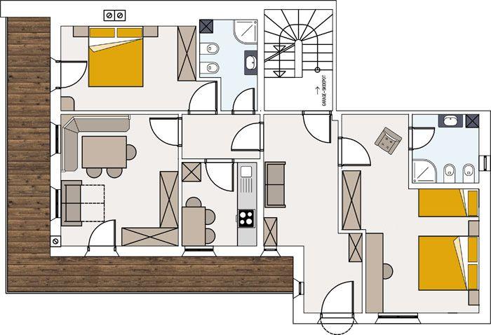 Przytulne mieszkanie z balkonem w Ortisei
