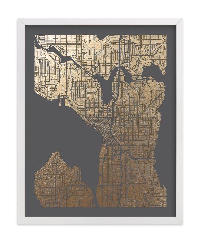 Seattle Map Redmond%0A Seattle Map Wall Art
