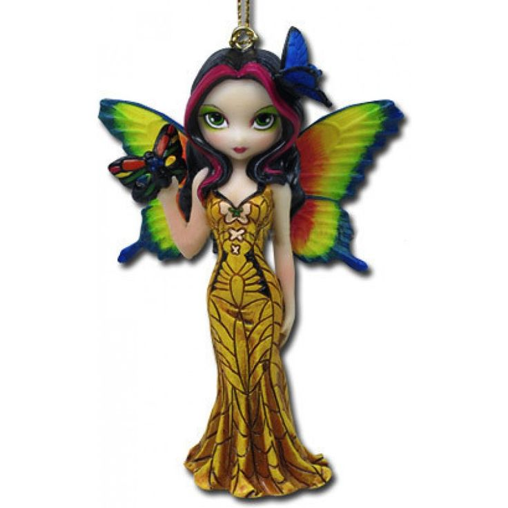 Fairy With Butterfly Mask Figurine