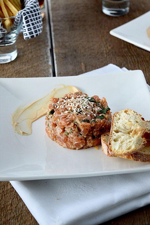 Tartare de saumon, mayonnaise épicée & érable | petitedouceur