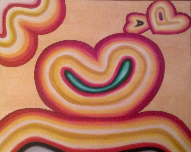 Retro Love, oilpainting by JacquelinePopArts - Art with a Heart - Valentijn - Valentines Day