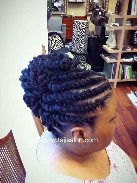 Twist Updo With Weave Picture Gallery