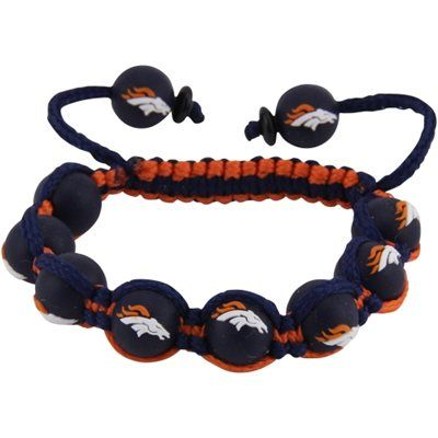 Denver Broncos Ladies Beaded Bracelet - Navy Blue