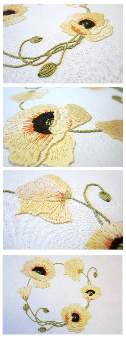 Floral embroidery wreath, hand embroidery pattern, needlework by Stitch Floral