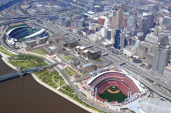 Editorial> Getting It Right in the Queen City - The Architect's Newspaper: Cincinnati Red, Banks Cincinnati, Cincinnati Bengal, Cincinnati Favorite, Architects Newspaper, Cincinnati Central, Cincinnati Riverfront, Brown Stadiums, Cincinnati Stuff