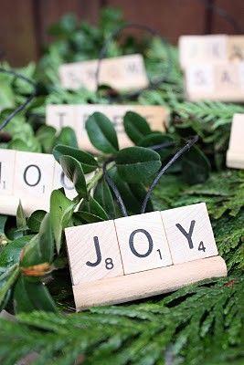 Scrabble Christmas Decorations