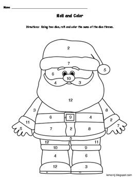 roll and color santa claus  printable christmas coloring pages christmas coloring pages
