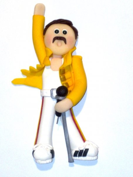 Freddie Mercury flat backed card topper.  £4.25