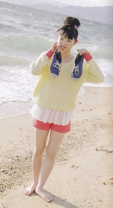 Su at the beach
