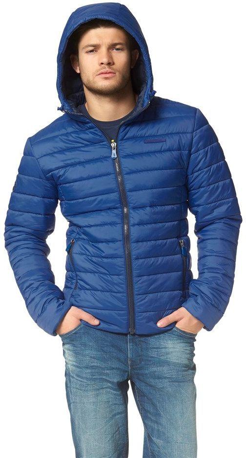 John Devin Steppjacke - Schöne Jacke in Dunkelblaue von JOHN DEVIN. Sie ist die ideale Ergänzung eines modischen Alltagsoutfits an kalten Tagen. Trage dazu grob gestrickte Mützen und Jeans. - ab 49,99€
