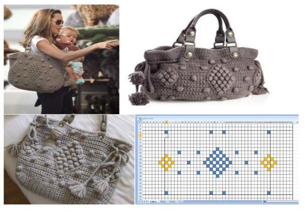 Crochet bag Gerard Darel - Angelina Jolie with pattern