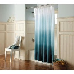 Ombré shower curtain
