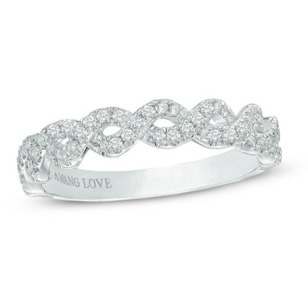 Vera Wang Love Collection 1 4 Ct T W Diamond Braided Wedding