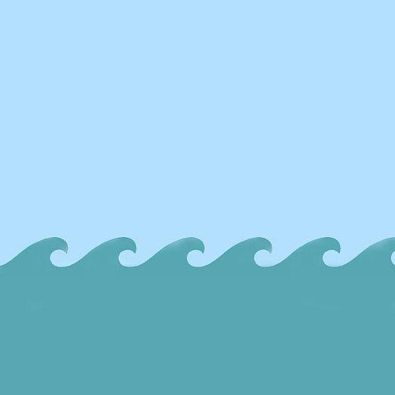 wave stencil sea stencil Nautical stencil by IdealStencils on Etsy