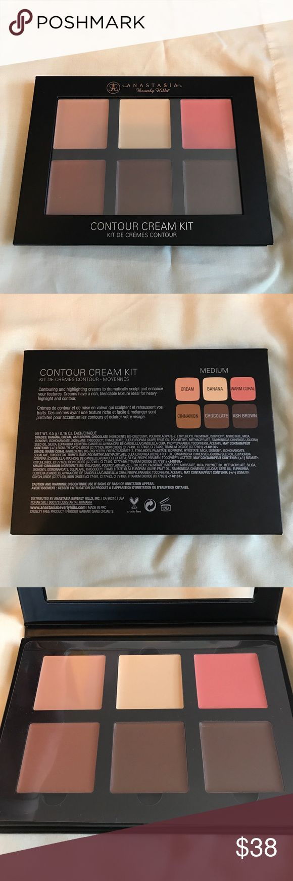 Anastasia Beverly Hills Cream Contour Kit Never used, never swatched, still has plastic covering! This is on the shade medium. I received this as a gift, and quickly noted it was too dark for me! Anastasia Beverly Hills Makeup