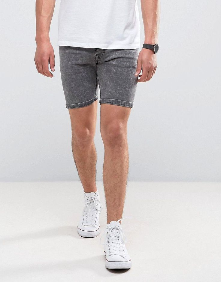 Get this Brave Soul's denim shorts now! Click for more details. Worldwide shipping. Brave Soul Acid Wash Grey Denim Shorts - Grey: Shorts by Brave Soul, Firm-stretch denim, Acid wash, Regular rise, Concealed fly, Functional pockets, Skinny fit - cut very closely to the body, Machine wash, 99% Cotton, 1% Elastane, Our model wears a size Medium and is 188cm/6'2 tall. (pantalón corto vaquero, damaged, ripped, mom, distress, flex jean, vaquero, jean, jeans, tejano, tejanos, shorts vaqueros…