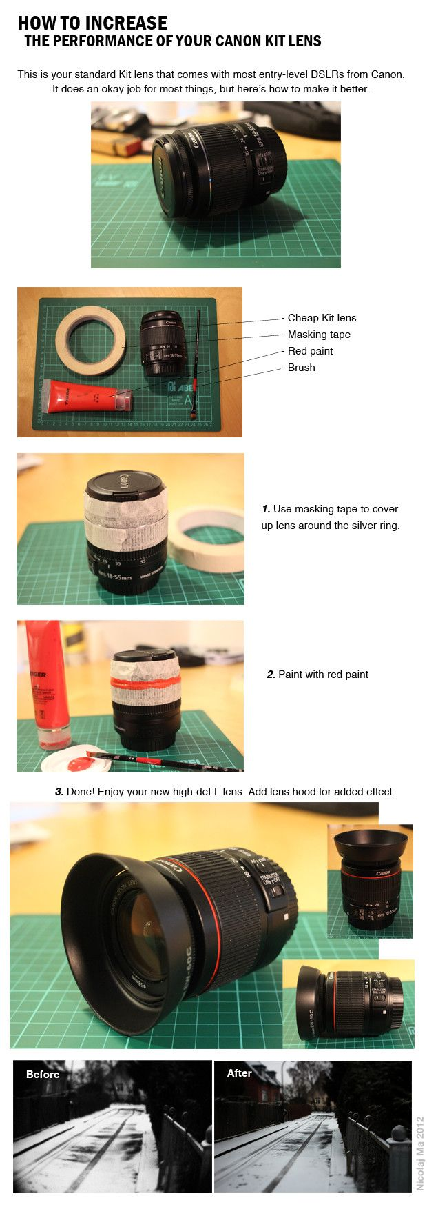 """Turn your Canon Kit lens to """"L"""" Lens for cheap :)"""