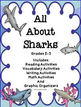 ALL ABOUT SHARKS - A fun filled activity book about sharks. This book includes reading comprehension an more! #tpt #education