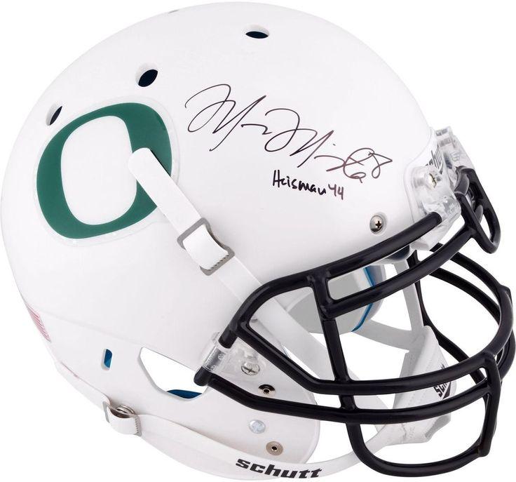 Marcus mariota oregon ducks signed white proline helmet