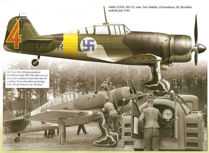Fokker D.XXI FR-125 Finnish Fighter Colours.Vol 2 1939-1945,Mushroom Model Publications