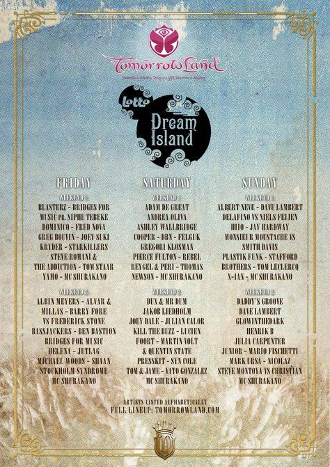 Tomorrowland Line Up 2014 Allow fortune a chance, play the lottery to be successful.