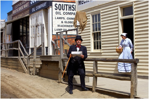 Sovereign Hill attraction showcasing the Gold Rush era. Ballarat, Victoria.
