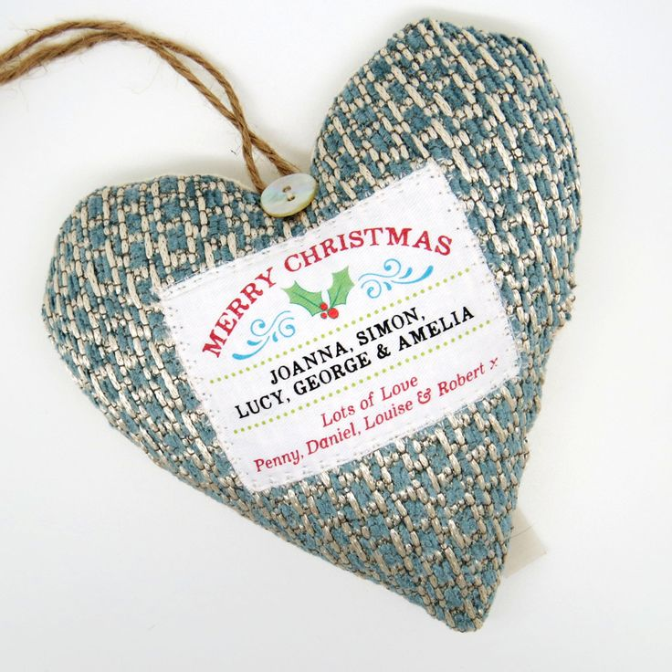 Personalised Christmas Greetings Ornament / Christmas Decoration. Choice of Fabrics. Scented Hanging Decoration. Gift Boxed by WordHeart on Etsy