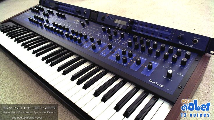 Dave Smith Instruments (DSI) POLY EVOLVER - 12 voice analog/digital hybrid synthesizer.  http://youtube.com/synth4ever