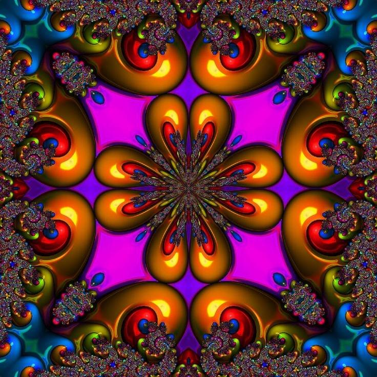 amazing rainbow fractal art - photo #26