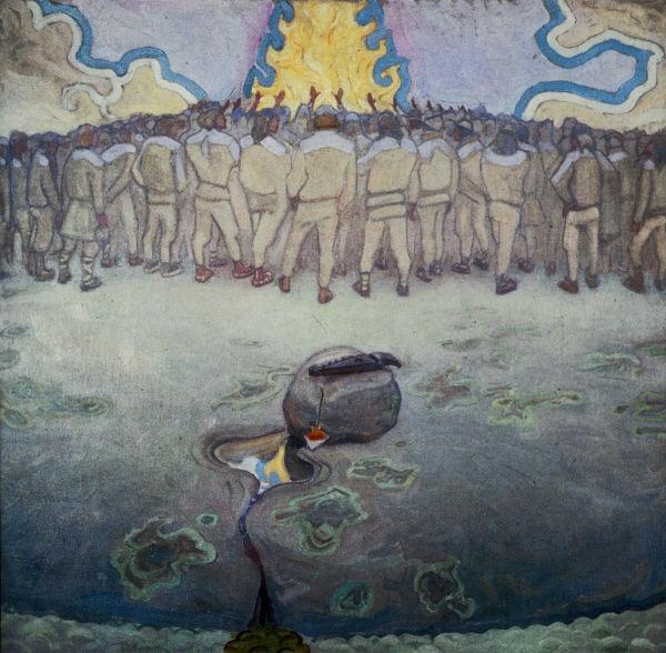 """The Worshippers of Fire"" (1916) by Akseli Gallen-Kallela"