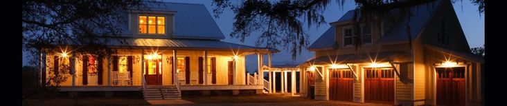 Low Country Home | Helga Braun Lilley, M. Arch. Same house at night!!!