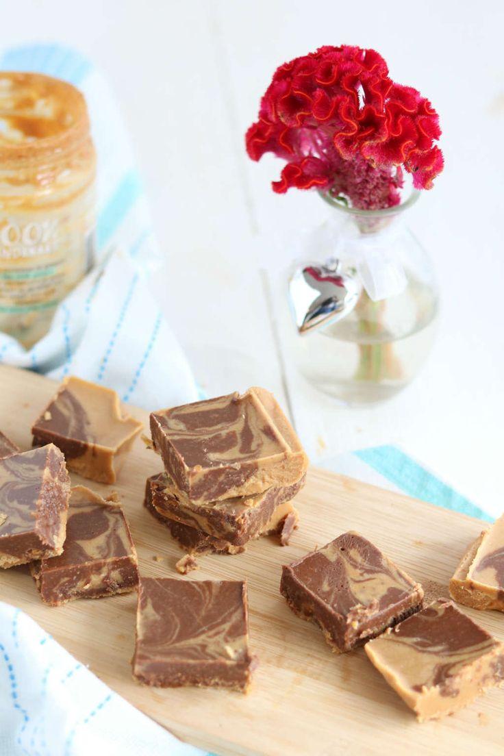 Pindakaas chocolade fudge