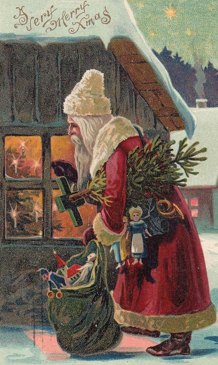 Vintage. Santa Christmas