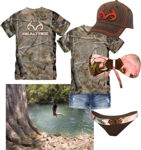 """Team Realtree :)"" by camo-ammo-queen ❤ liked on Polyvore"