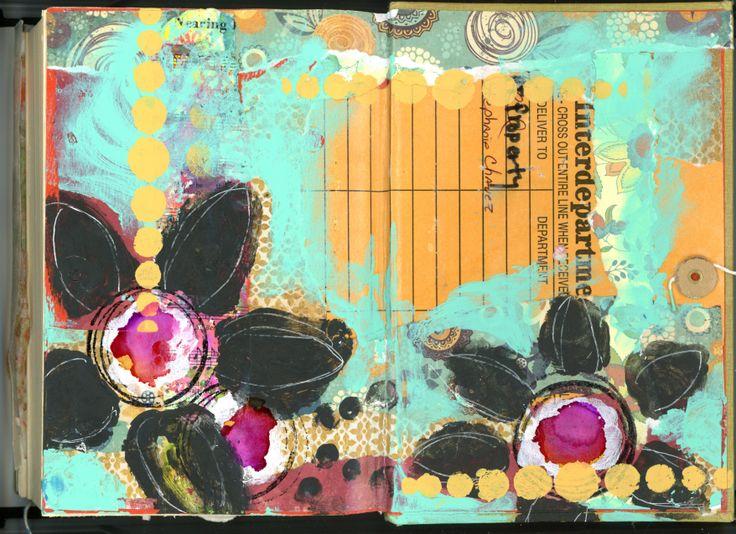 Repurposed Book Journal - inside back cover.  BananaCurlGirl.com
