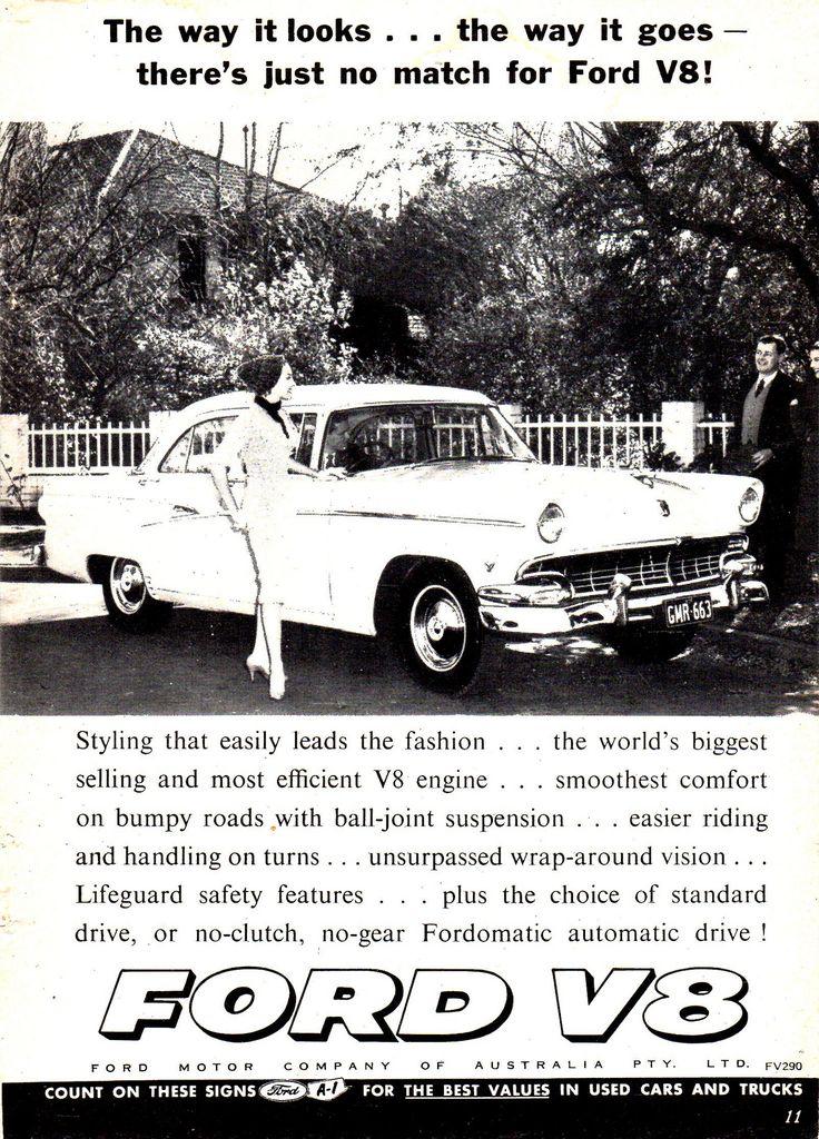 https://flic.kr/p/Vhq7ys | 1956 Ford Customline V8 Aussie Original Magazine Advertisement