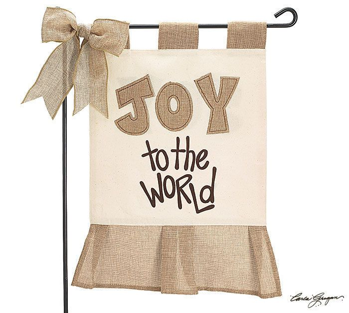 Christmas Burlap Yard Flag Holiday Burlap Garden Flag Joy to The World | eBay
