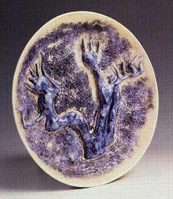 Füreya Koral, plate, gres, 28 cm, 1985 (Erdinç Bakla archive)