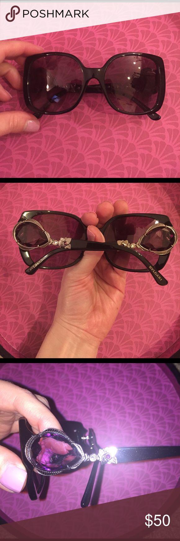 Great square frame Bvlgari glasses Bvlgari glasses square frame with purple stones on the side bvlgari Accessories Glasses