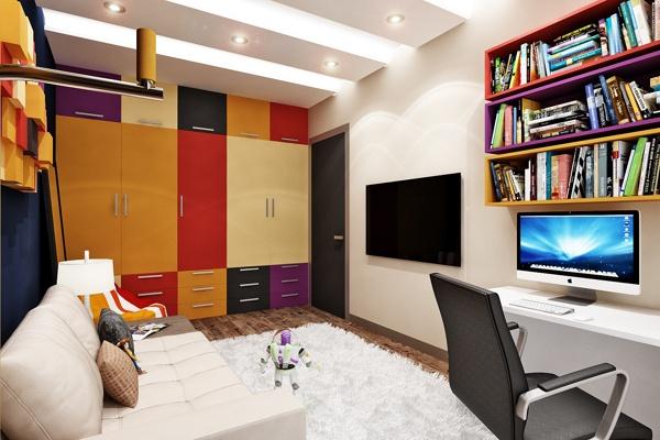 Room for teenager...Комната  подростка... by Rash_studio , via Behance